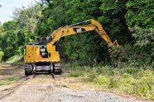 325 railroad excavator mulcher