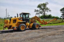 rail wheel loader boom
